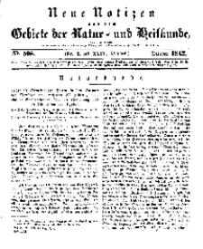 Neue Notizen aus dem Gebiete der Natur- und Heilkunde, 1842 (Bd. XXIV, nr 2), October - No 508