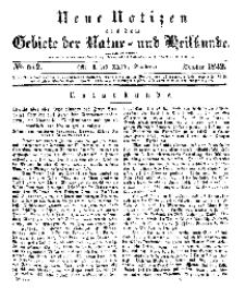 Neue Notizen aus dem Gebiete der Natur- und Heilkunde, 1842 (Bd. XXIV, nr 6), October - No 512