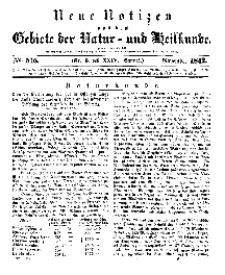 Neue Notizen aus dem Gebiete der Natur- und Heilkunde, 1842 (Bd. XXIV, nr 9), November - No 515