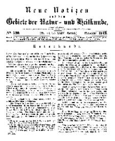 Neue Notizen aus dem Gebiete der Natur- und Heilkunde, 1842 (Bd. XXIV, nr 14), November - No 520