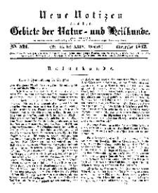 Neue Notizen aus dem Gebiete der Natur- und Heilkunde, 1842 (Bd. XXIV, nr 15), November - No 521