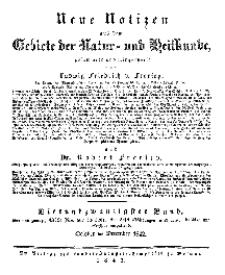 Neue Notizen aus dem Gebiete der Natur- und Heilkunde, 1842 (Register - Bd. XXIV)