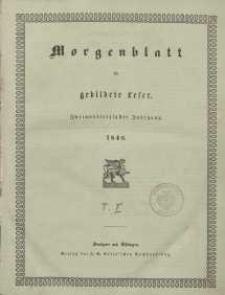 Morgenblatt für gebildete Leser, 1848, Sonnabend, 1. Januar 1848, Nr 1.