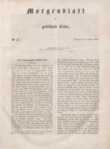 Morgenblatt für gebildete Leser, 1848, Montag, 3. Januar 1848, Nr 2.