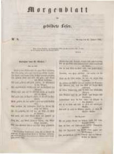 Morgenblatt für gebildete Leser, 1848, Montag, 10. Januar 1848, Nr 8.