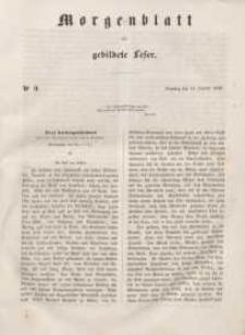 Morgenblatt für gebildete Leser, 1848, Dienstag, 11. Januar 1848, Nr 9.