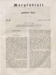 Morgenblatt für gebildete Leser, 1848, Dienstag, 1. Februar 1848, Nr 27.