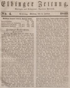 Elbinger Zeitung, No. 4 Montag, 9. Januar 1843