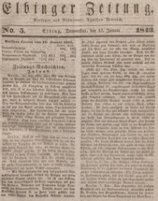 Elbinger Zeitung, No. 5 Donnerstag, 12. Januar 1843