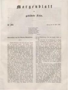 Morgenblatt für gebildete Leser, 1848, Freitag, 28. April 1848, Nr 102 [błędnie Nr 202]
