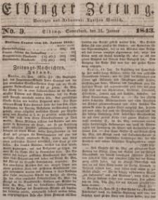 Elbinger Zeitung, No. 9 Sonnabend, 21. Januar 1843