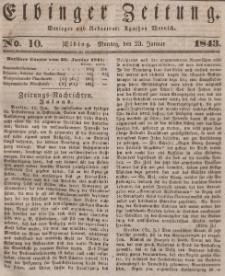 Elbinger Zeitung, No. 10 Montag, 23. Januar 1843