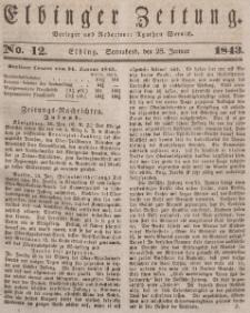 Elbinger Zeitung, No. 12 Sonnabend, 28. Januar 1843