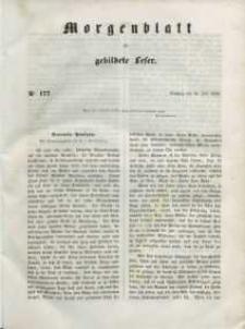 Morgenblatt für gebildete Leser, 1848, Dienstag, 25. Juli 1848, Nr 177.