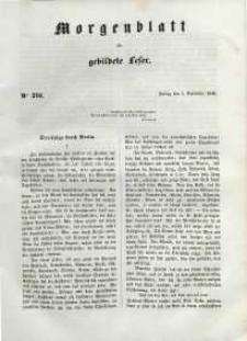 Morgenblatt für gebildete Leser, 1848, Freitag, 1. September 1848, Nr 210.