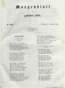 Morgenblatt für gebildete Leser, 1848, Sonnabend, 9. September 1848, Nr 217.