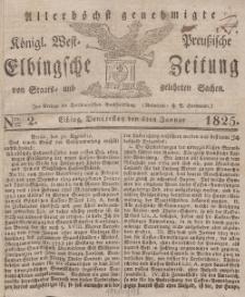 Elbingsche Zeitung, No. 2 Donnerstag, 6 Januar 1825
