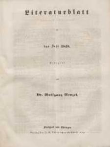 Literaturblatt, 1848 (Alphabetisches Verzeichniß)