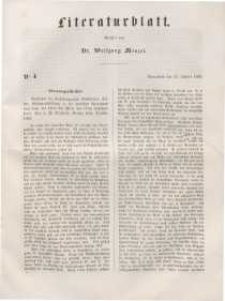 Literaturblatt, 1848, Sonnabend, 15. Januar, Nr 4.