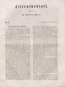 Literaturblatt, 1848, Sonnabend, 22. Januar, Nr 6.