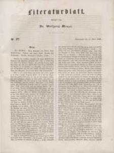 Literaturblatt, 1848, Sonnabend, 15. April, Nr 27.
