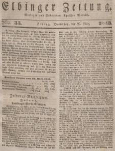 Elbinger Zeitung, No. 35 Donnerstag, 23. März 1843