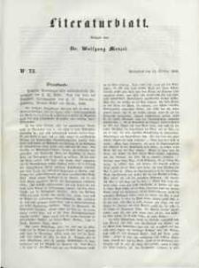 Literaturblatt, 1848, Sonnabend, 14. October, Nr 73.