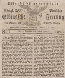 Elbingsche Zeitung, No. 3 Montag, 10 Januar 1825