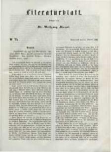 Literaturblatt, 1848, Sonnabend, 21. October, Nr 75.