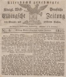 Elbingsche Zeitung, No. 4 Donnerstag, 13 Januar 1825