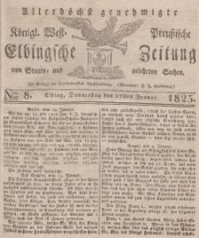 Elbingsche Zeitung, No. 8 Donnerstag, 27 Januar 1825
