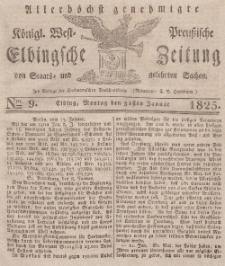 Elbingsche Zeitung, No. 9 Montag, 31 Januar 1825