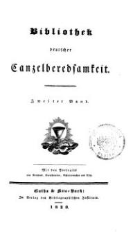 Bibliothek deutscher Canzelberedsamkeit, Bd. 2