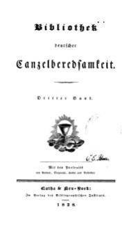 Bibliothek deutscher Canzelberedsamkeit, Bd. 3