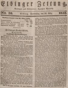 Elbinger Zeitung, No. 38 Donnerstag, 30. März 1843