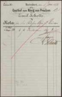 Nota: Gasthof zum König von Preussen von Emil Schotte