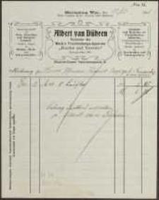 """Rechnung: Albert van Dühren [...]""""Koche auf Vorrat"""""""