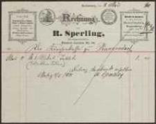 Rechnung: R. Sperling