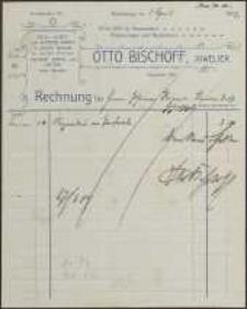 Rechnung: Otto Bischoff, Juwelier