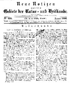 Neue Notizen aus dem Gebiete der Natur- und Heilkunde, 1844 (Bd. XXIX, nr 8), Januar - No 624
