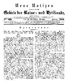 Neue Notizen aus dem Gebiete der Natur- und Heilkunde, 1844 (Bd. XXIX, nr 13), Februar - No 629