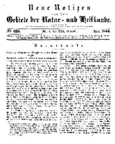 Neue Notizen aus dem Gebiete der Natur- und Heilkunde, 1844 (Bd. XXX, nr 1), April - No 639