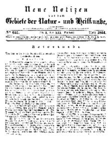 Neue Notizen aus dem Gebiete der Natur- und Heilkunde, 1844 (Bd. XXX, nr 3), April - No 641