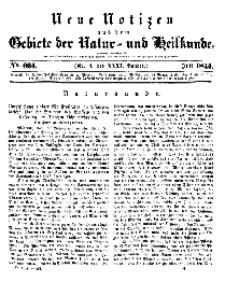 Neue Notizen aus dem Gebiete der Natur- und Heilkunde, 1844 (Bd. XXXI, nr 4), Juli - No 664