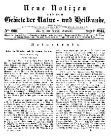 Neue Notizen aus dem Gebiete der Natur- und Heilkunde, 1844 (Bd. XXXI, nr 9), Juli - No 669