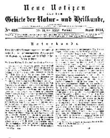 Neue Notizen aus dem Gebiete der Natur- und Heilkunde, 1844 (Bd. XXXI, nr 13), August - No 673