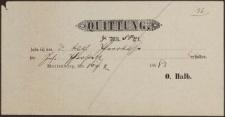Quittung (16.02.1888 r.)