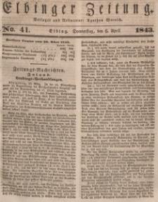 Elbinger Zeitung, No. 41 Donnerstag, 6. April 1843