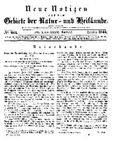 Neue Notizen aus dem Gebiete der Natur- und Heilkunde, 1844 (Bd. XXXII, nr 2), October - No 684