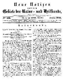 Neue Notizen aus dem Gebiete der Natur- und Heilkunde, 1844 (Bd. XXXII, nr 3), October - No 685